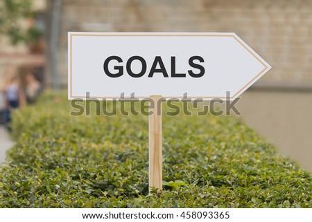 goals signpost - stock photo