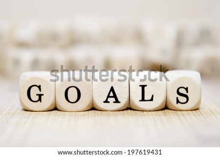 Goals word concept - stock photo