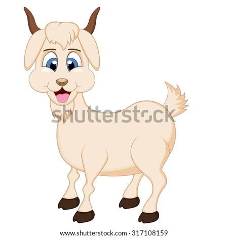 Cartoon goats in love