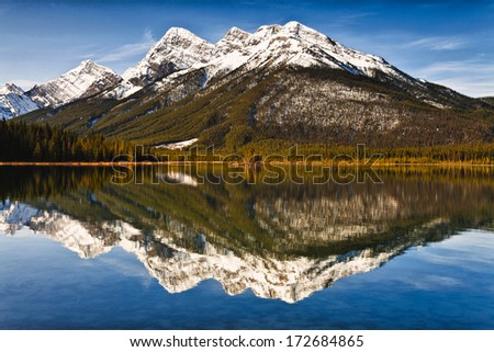 Goat Mountain reflection - stock photo