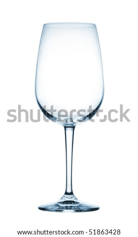 goblet for wine on a white background - stock photo