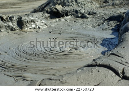 Gobustan mud volcano - stock photo
