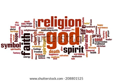 God concept word cloud background - stock photo