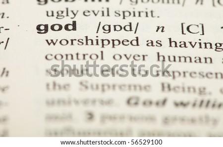 god definition - stock photo