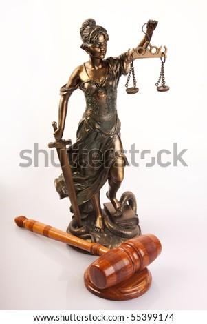 God of law - stock photo