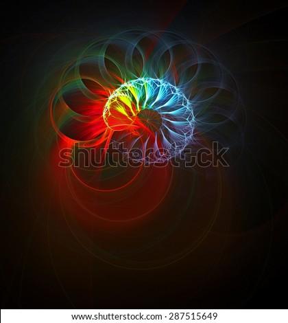 God's Eye abstract illustration - stock photo