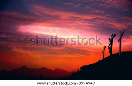 God's love to people The cross- symbol of God's love to people - stock photo