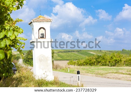 God''s torture with vineyard, Southern Moravia, Czech Republic - stock photo