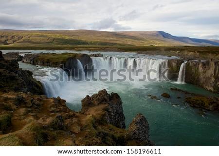 Godafoss, Iceland. - stock photo