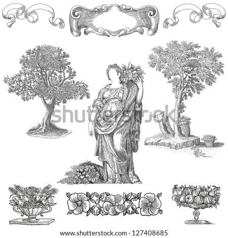 Goddess Flora - stock photo