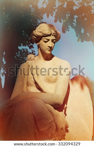 goddess of love Aphrodite (Venus) resting on Mount Olympus (statue fragment)