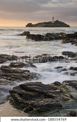 Godrevy Lighthouse - stock photo