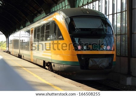 Goerlitz, Germany - June 28, 2011: Deutsche ODEG Desiro train at station in Goerlitz, Germany