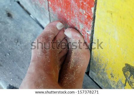 Going Barefoot                                      - stock photo