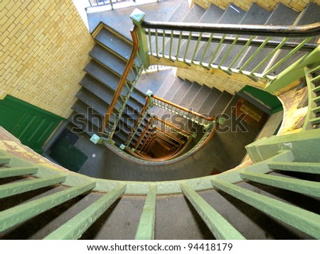 going down - stock photo