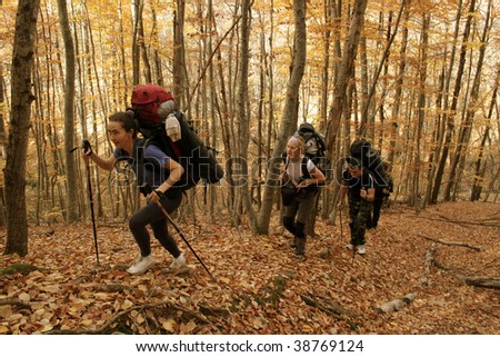 Going for a walk for an autumn Crimea. - stock photo