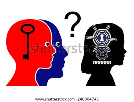 Going through Puberty. Parents trying to communicate with pubescent daughter who has grown apart  - stock photo