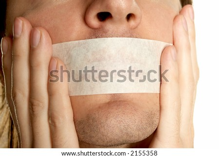 going to keep silence - stock photo
