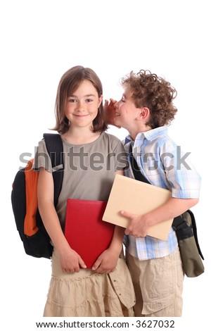 going to school - stock photo