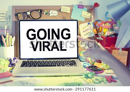 Going viral business concept - stock photo