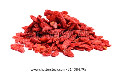 Goji berries on the table - stock photo