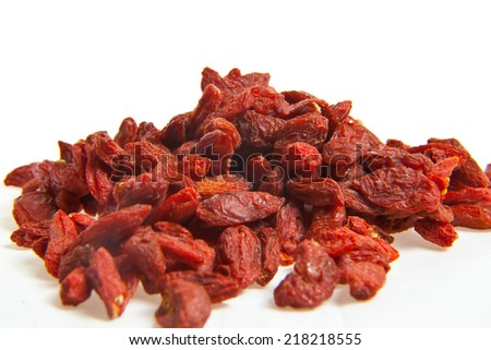 Goji berries on the table closeup