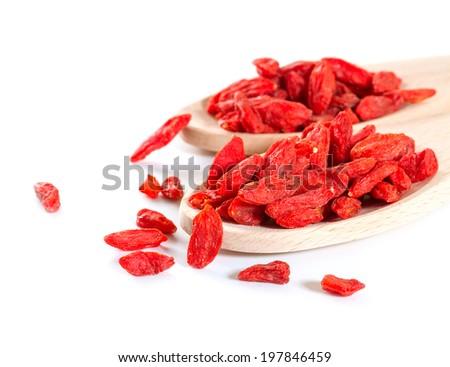 Goji berries on white background  - stock photo