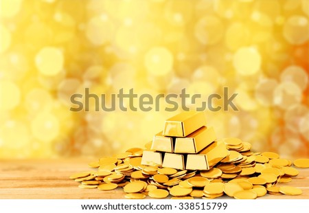 Gold. - stock photo