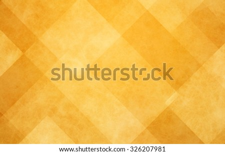 gold abstract background with angled lines, blocks, squares, diamonds, rectangles and triangle shapes layered in checkered style abstract pattern - stock photo