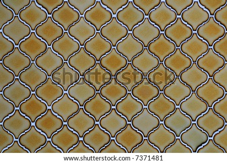 Gold abstract shape wall texture - stock photo