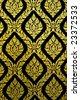gold and black wall pattern - Bangkok, Thailand. - stock photo