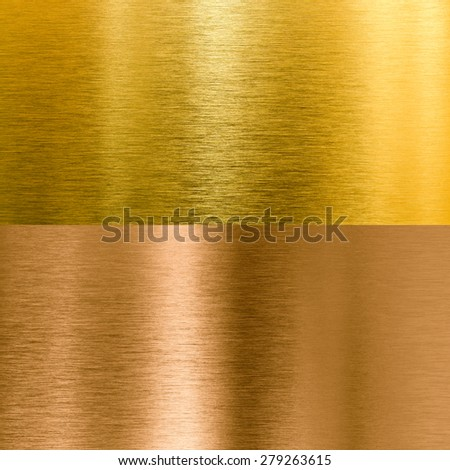 gold and bronze metal texture backgrounds - stock photo