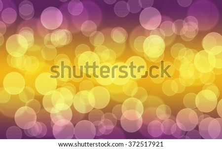 Gold  and purple tones abstract  bokeh light background. - stock photo