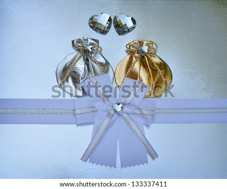 gold and Silver bag - stock photo