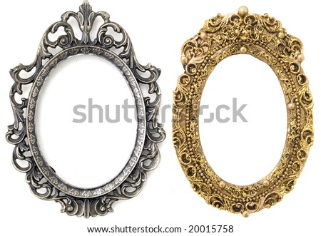Gold Silver Oval Frames Stock Photo & Image (Royalty-Free) 20015758 ...