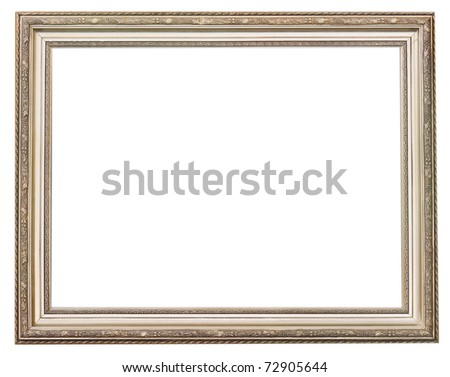 Gold and silver picture frame - stock photo