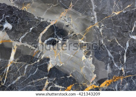 Gold and white patterned natural of dark gray marble pattern gold russia texture for design. - stock photo
