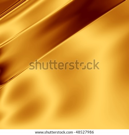 Gold artistic silk - stock photo