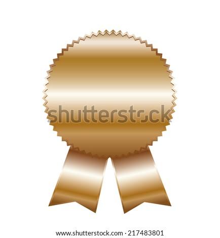Gold award. - stock photo