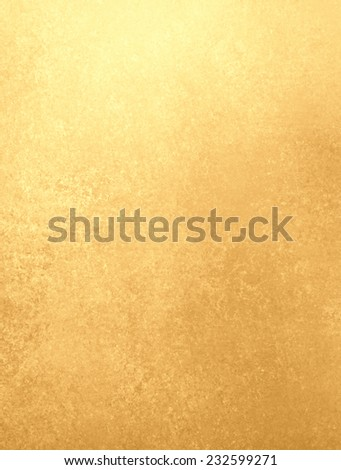 gold background poster, texture is old vintage distressed solid gold color with rough peeling paint - stock photo