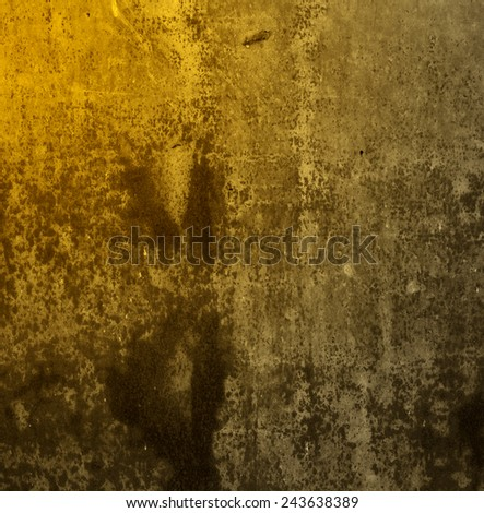 gold background rusty metal texture - stock photo