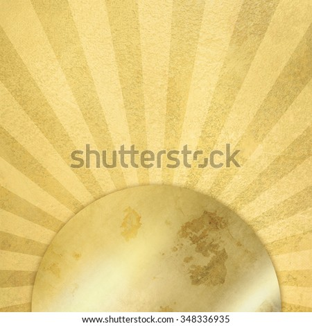 Gold background with rays - abstract sunburst - stock photo