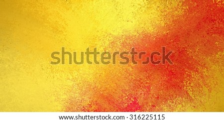 gold background with red color splash grunge texture - stock photo