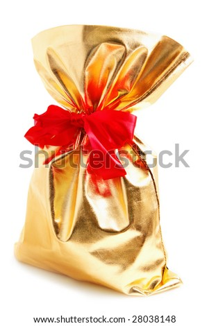 Gold bag - stock photo