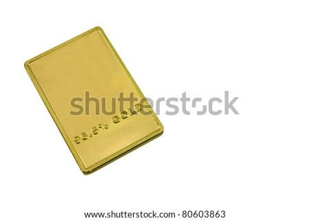 gold bar isolated on the white background - stock photo