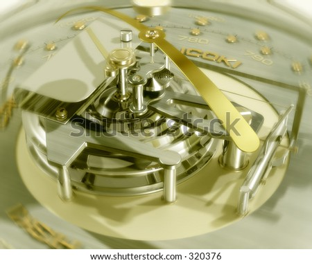 gold Barometer - stock photo