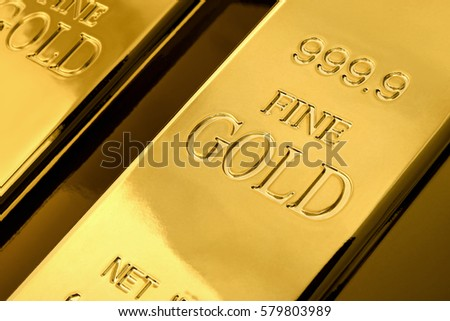 Gold bars. Financial concept. Gold bullion stack.