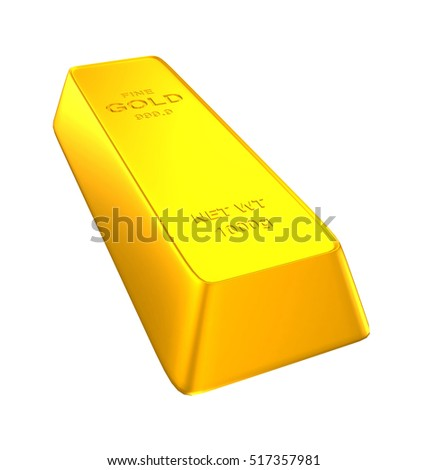 gold bars 1000 grams isolated on white background. 3d render
