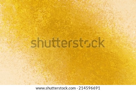 gold beige background with bright golden color splash design element angled from corner to corner, distressed old vintage textured paper with yellow crackled painted center - stock photo