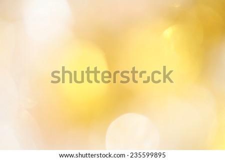 Gold bokeh - stock photo